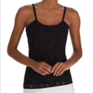 WHBM Black Floral Lace Cami